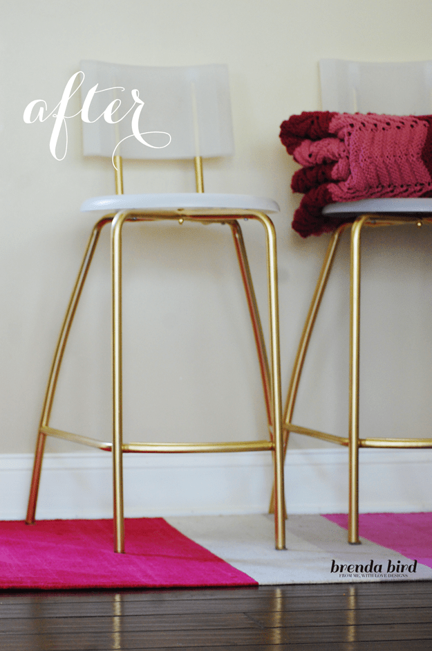 23 DIY Ikea hack GLAMMED UP GOLD STOOLS 625x940 simphome com