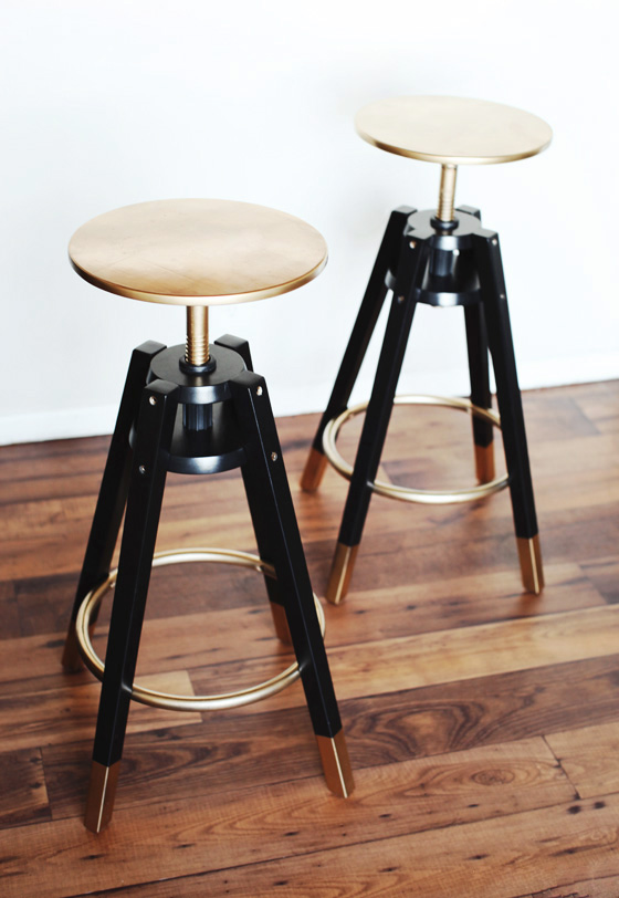 4 DIY DALFRED IKEA Bar Stools Makeover IKEA Hack Simphome com