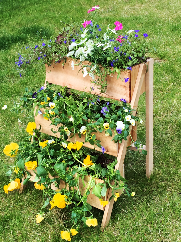 4 Tiered Flower Planter by anna white via simphome