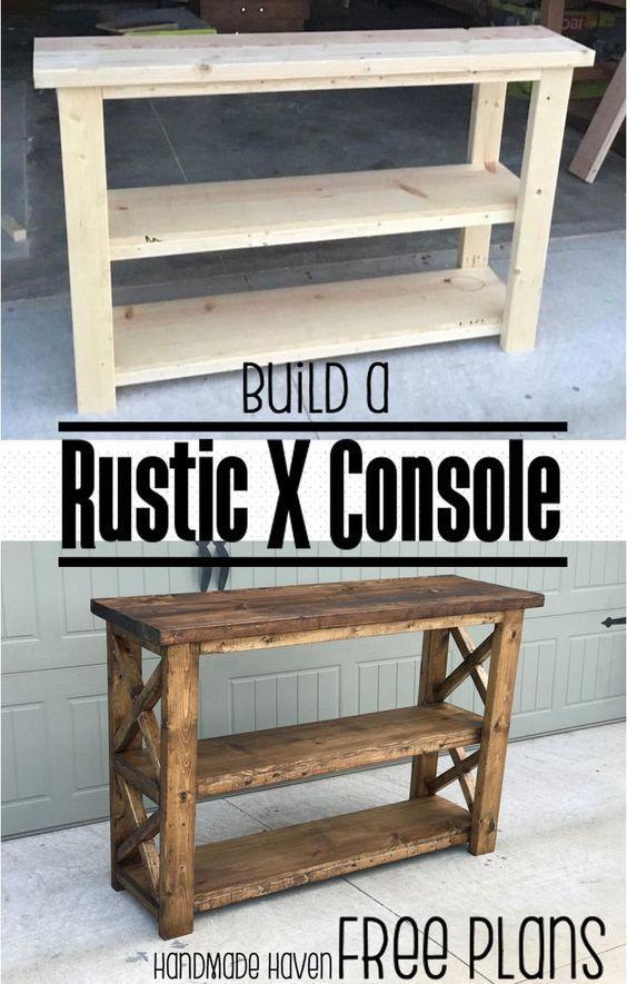 rustic console