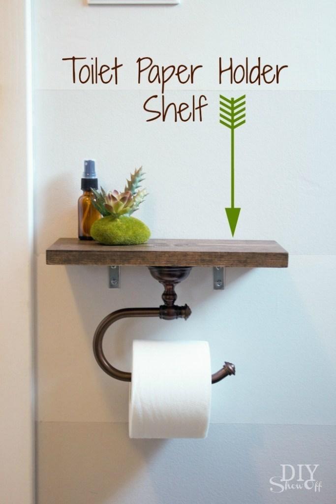 simphome toilet paper holder shelf