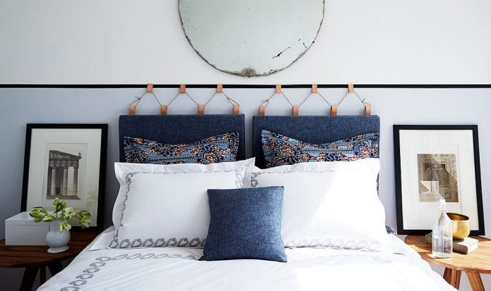 1 A Leather and Cord Headboard Simphome com