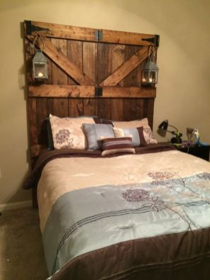 Barn Door Headboard 4 Simphome com