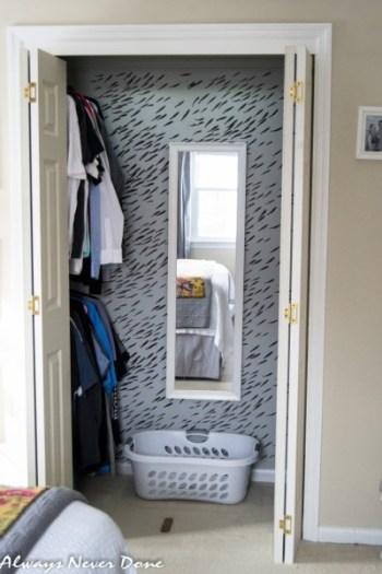 Closet makeover with stencil 3 Simphome com