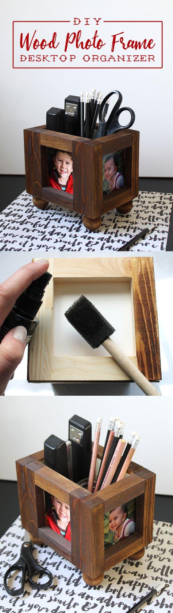 Wood Frame Organizer 2 Simphome com