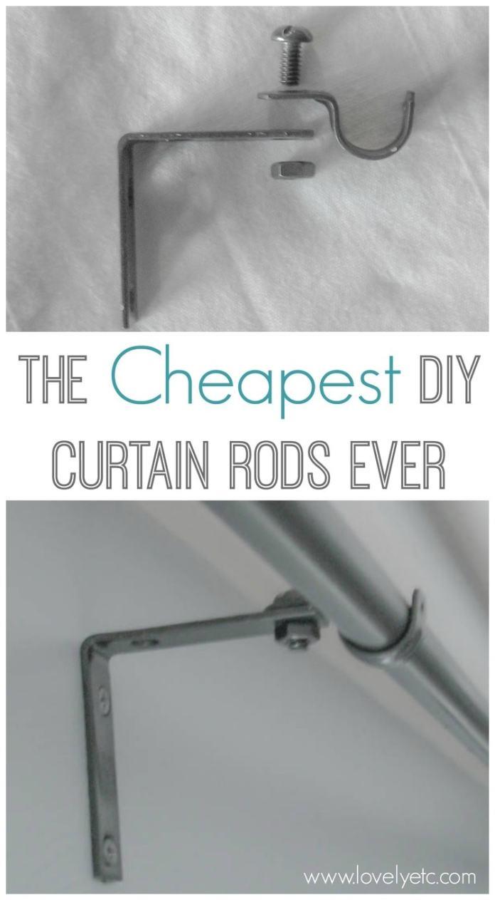 4 CHEAPEST DIY CURTAIN RODS Simphome com