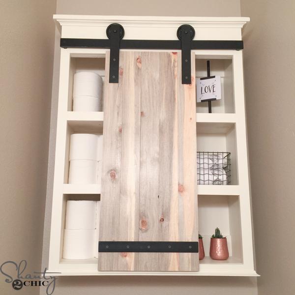 DIY Sliding barn Door bathroom cabinet Simphome com 2