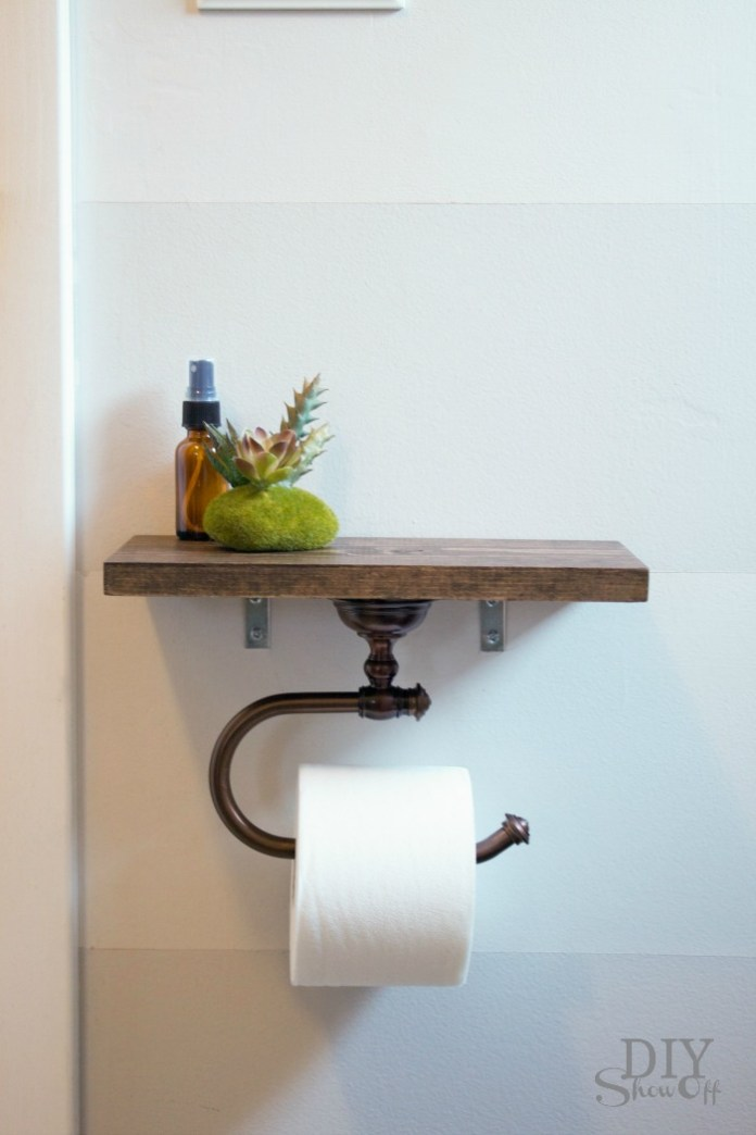 Unique Toilet Paper Holder and Shelf Simphome com 3