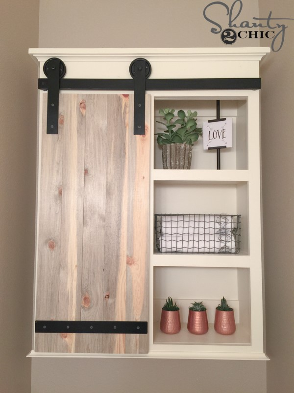 10 Sliding Barn Door Bathroom Cabinet Simphome com
