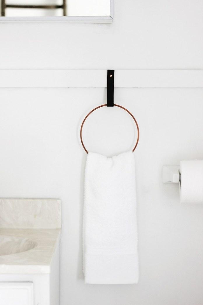 2 DIY Hand Towel Ring Simphome com