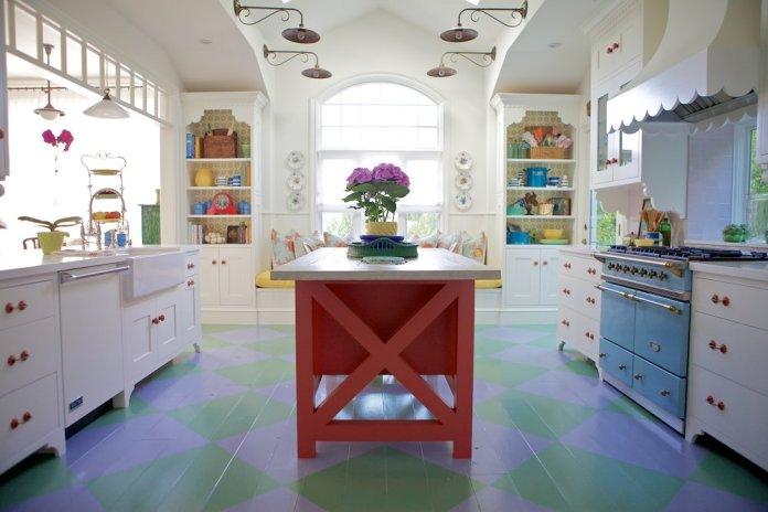 3 Colorful Modern Farmhouse Kitchen via Simphome com