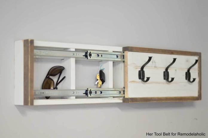 3 BUILD A WALL COAT RACK WITH HOOKS AND HIDDEN STORAGE Simphome com