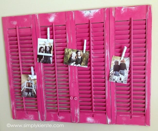 6 Shutters clipboard Photo Frames idea Simphome com