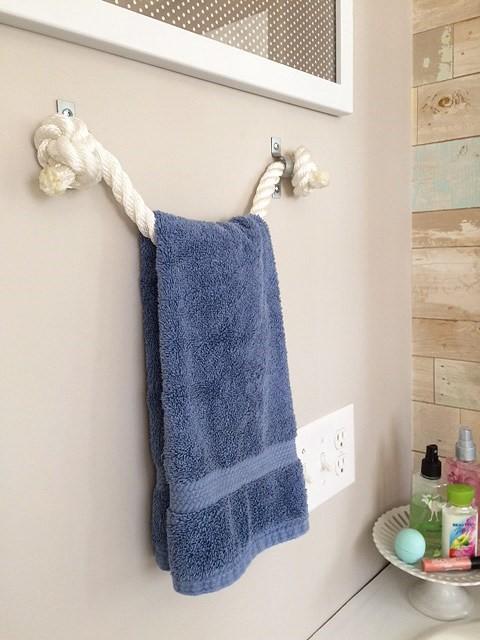 1 DIY Rope Towel Holder Simphome com