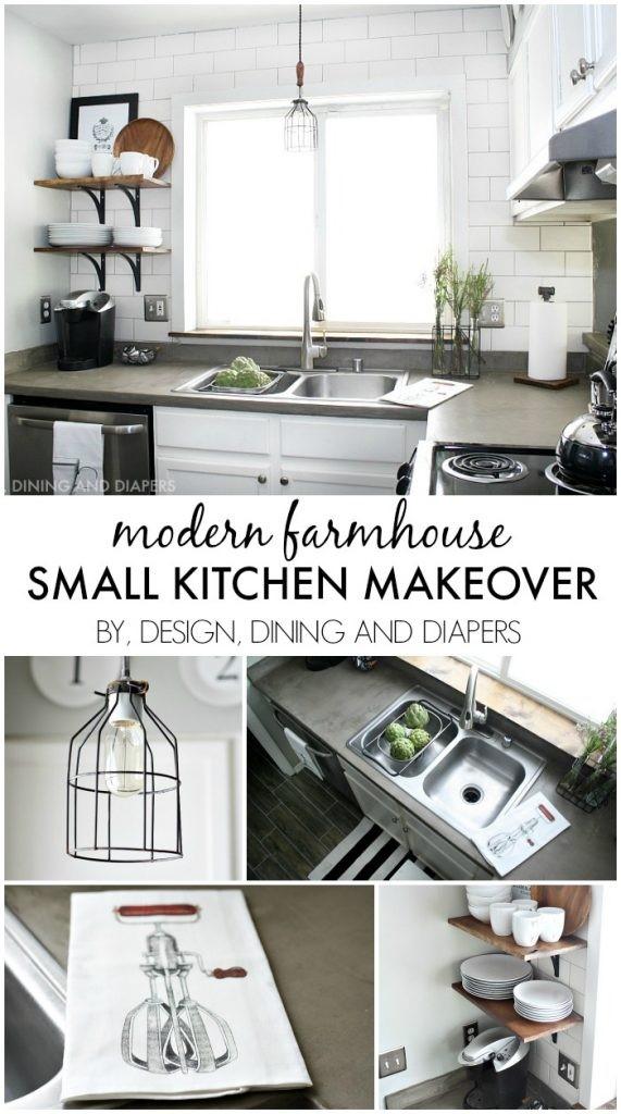 2 Modern Farmhouse Small Kitchen Makeover Simphome com