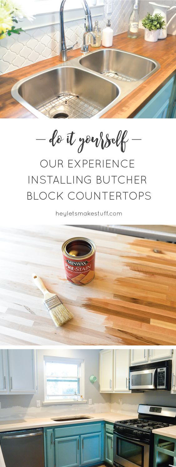 4 Install our butcher block countertops Simphome