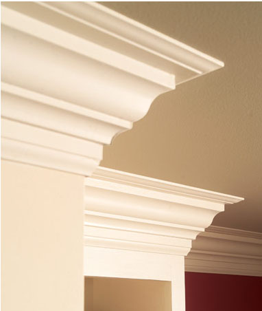1 Add Moldings to Your Existing Kitchen Cabinets via simphome