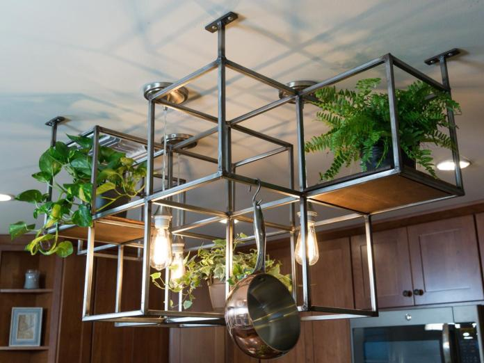 105 1 Kitchen Island Pot And Pan Rack Via Simphome com