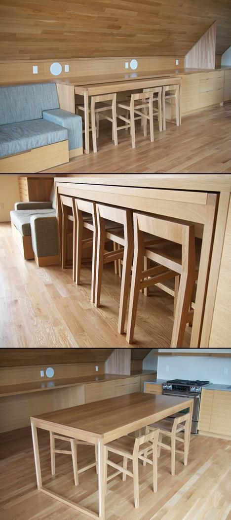 170 PULL OUT Table Island Desk via simphome