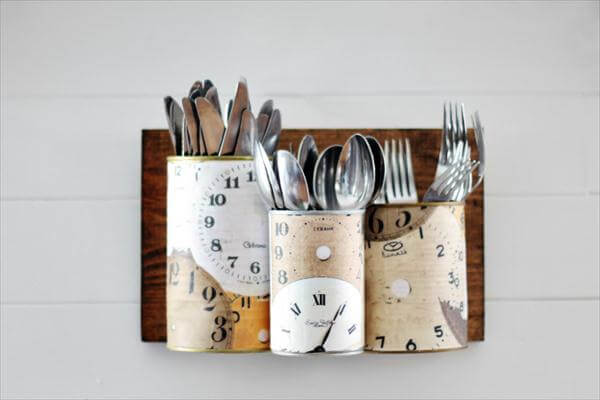 185 tin cutlery storage wall caddy via simphome