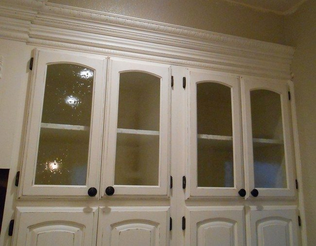 2 Frosted Glass Cabinet Doors via simphome