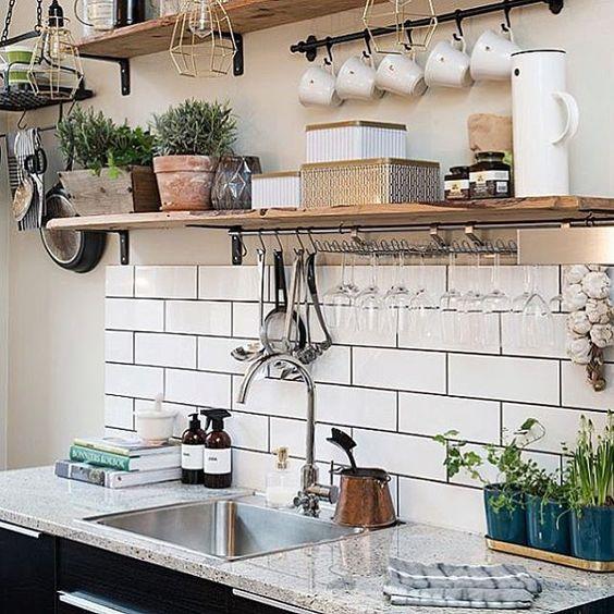 223 2 Build Copper Open Shelves Via Simphome com