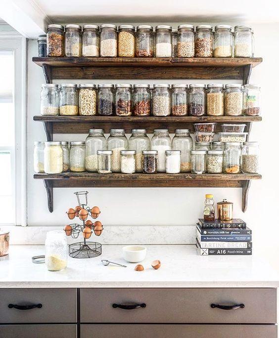 279 Creative multi jar shelving idea via simphome