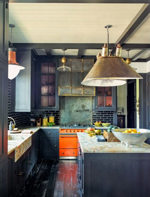 28.Lacanche Range in Steven Gambrel Kitchen