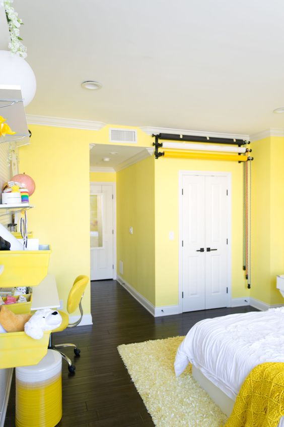 33 Adelaine Morin's Hello Yellow Bedroom Makeover Simphome