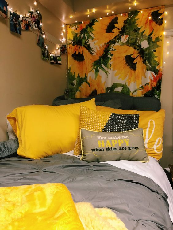 34 Sunflower Dorm Room Simphome