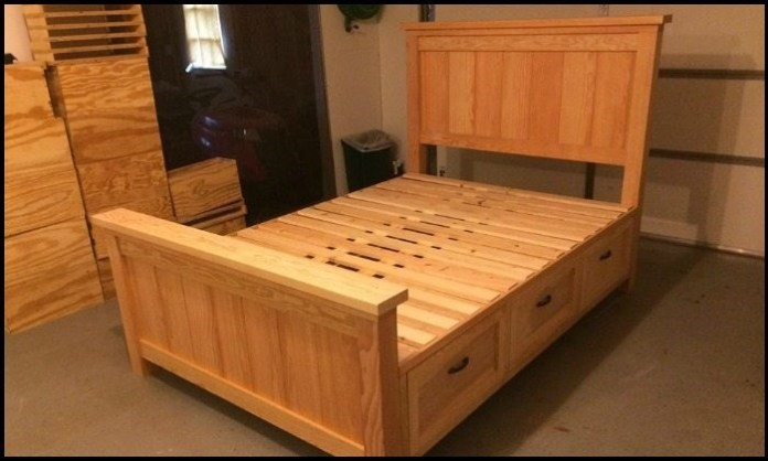 4.Bed with built in drawers via simphome