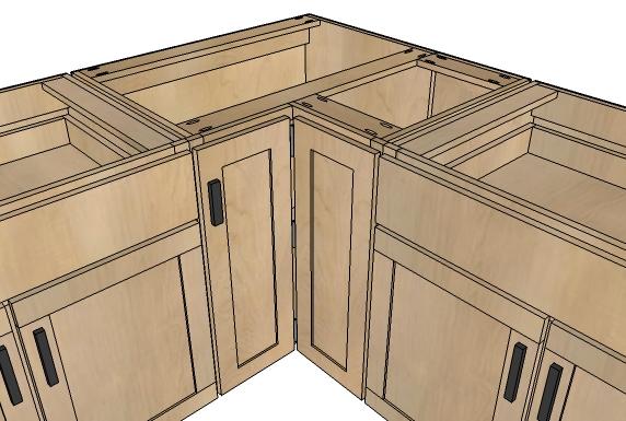 6 DIY Corner Cabinet via simphome
