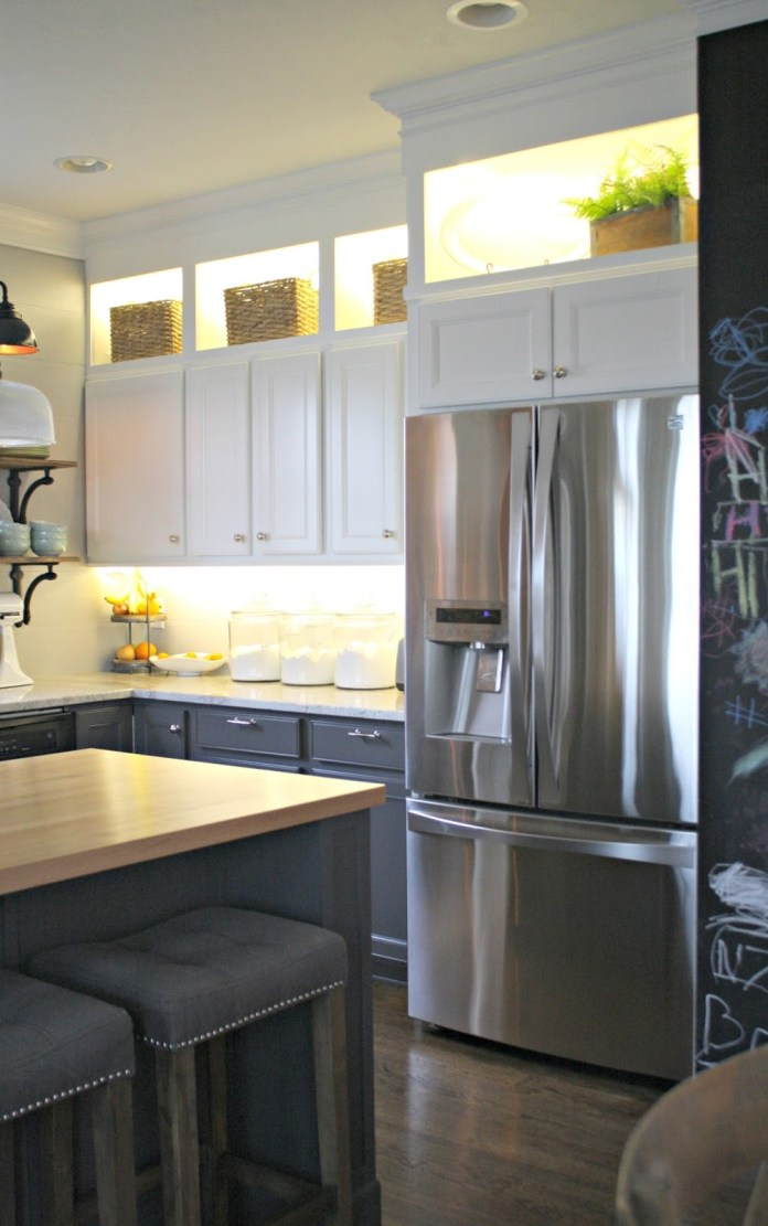 9 Shed Some Light to Your Cabinets via simphome