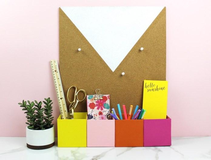 10 Corkboard Desk Organizer via simphome
