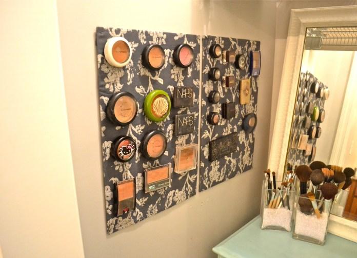 3 Stylish Makeup Storage via simphome 1