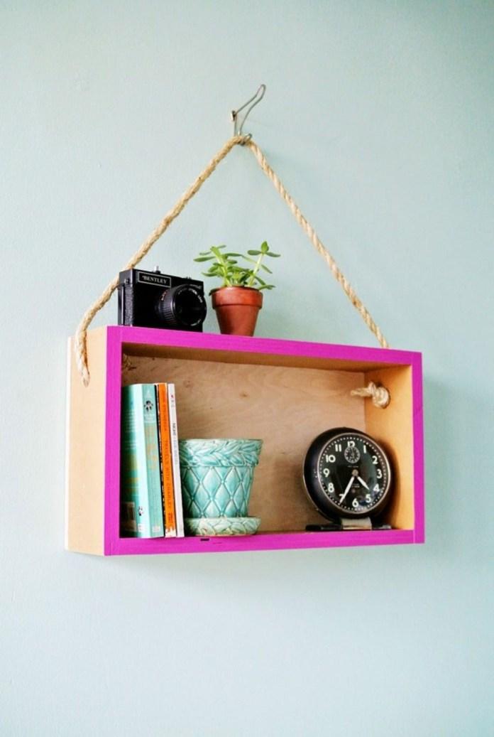 5 Hanging Cube Shelf via simphome