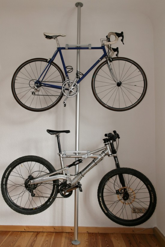 25 Heres a double bike rack made from a Stolmen post 30 two brackets and four hooks all from Ikea
