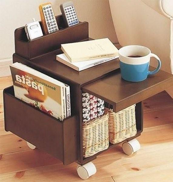 3 Side Table with Castors via simphome