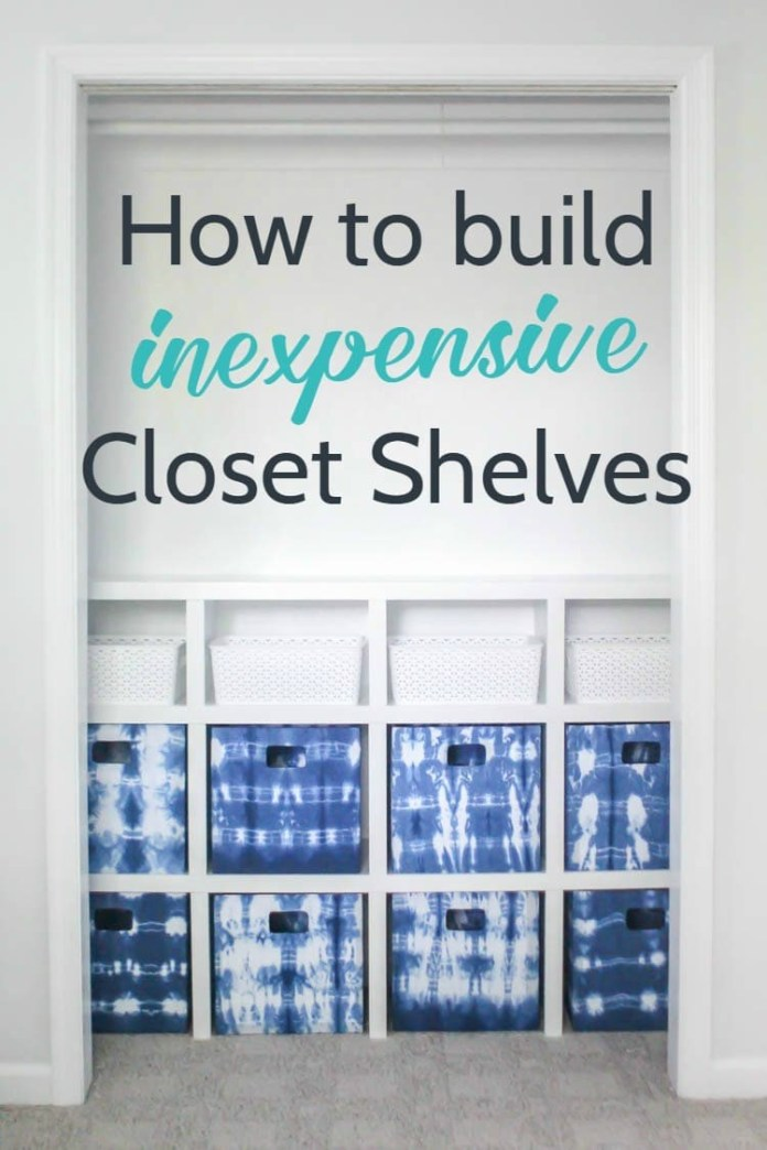 9 Closet Shelves with Fabric Storage Cubes on A Budget via simphome