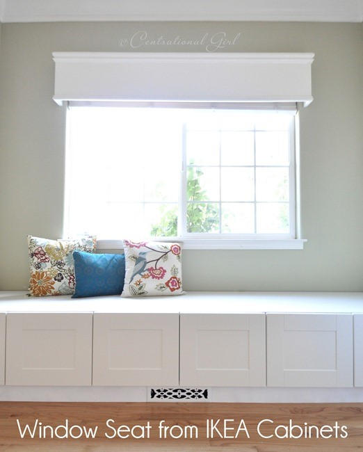 A WINDOW SEAT MADE FROM IKEA STOLMEN via Simphome Before 3