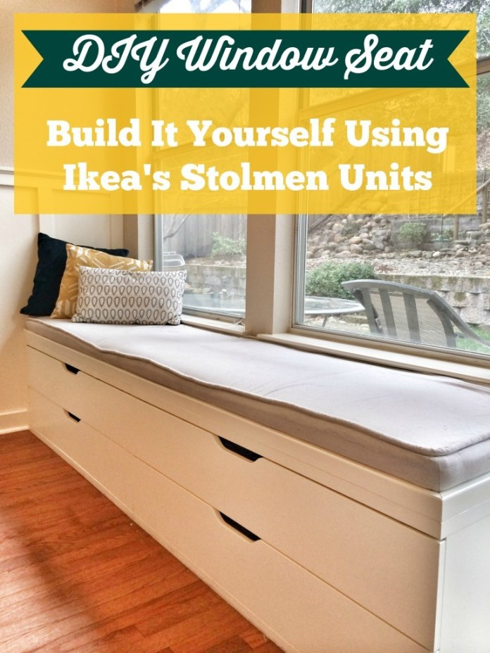 A WINDOW SEAT MADE FROM IKEA STOLMEN via Simphome Process 11
