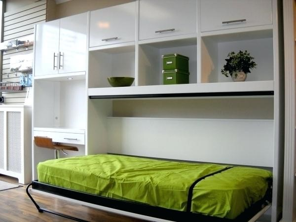 4 Incorporate Murphy Bed to The Cabinets via simphome