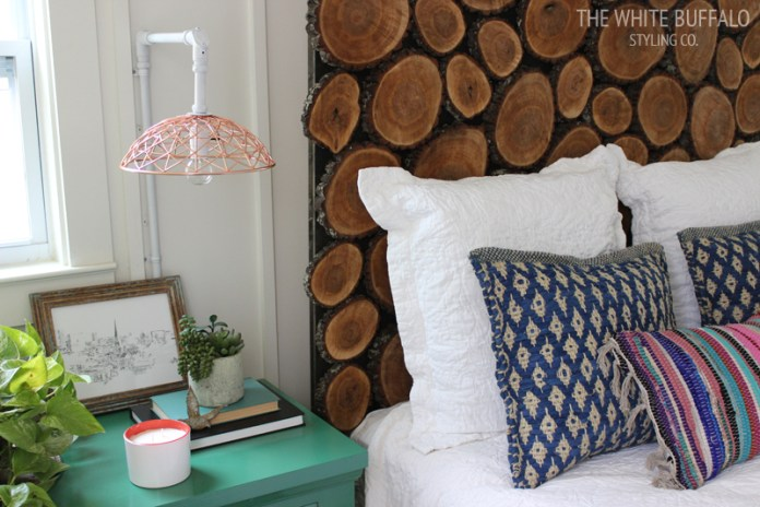 7 Wood Slice Headboard via simphome