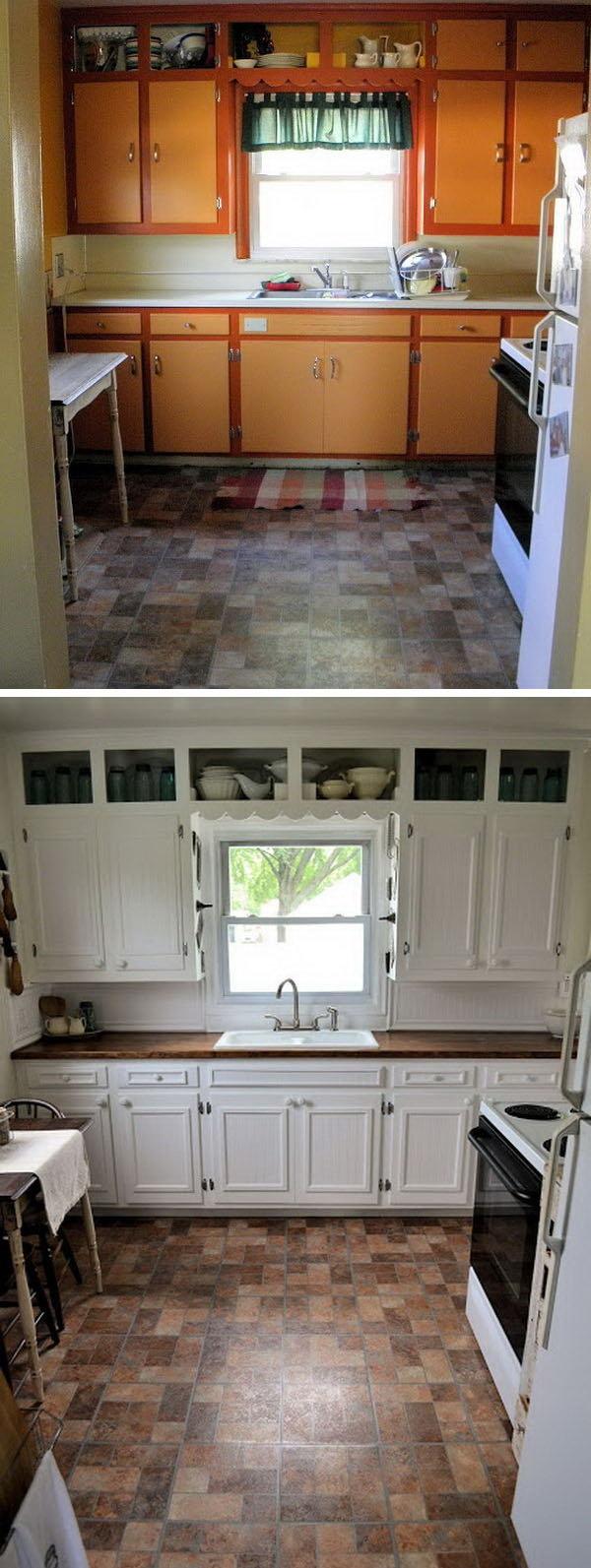 9 Paint kitchen cabinet via simphome
