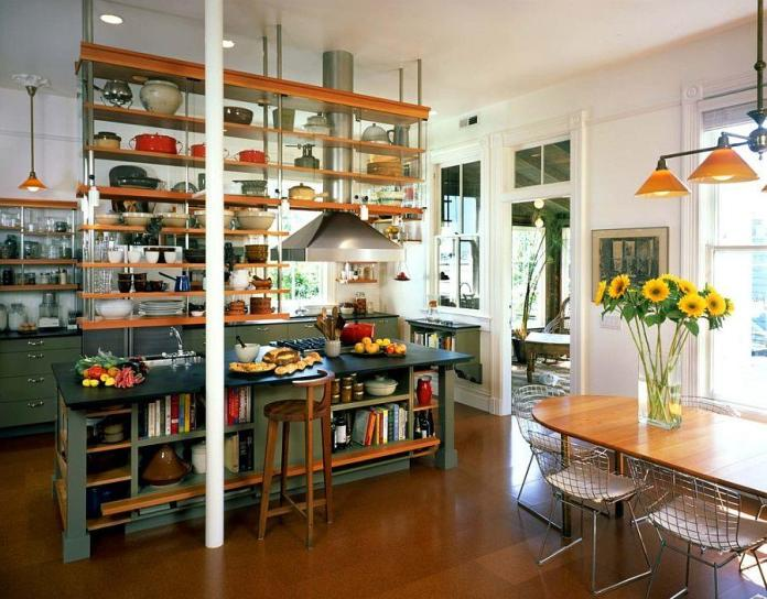 5 Above the Table Kitchen shelving system via Simphome 1