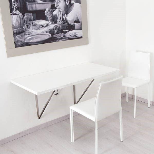 5 Wall Mounted Folding Dining Table via Simphome