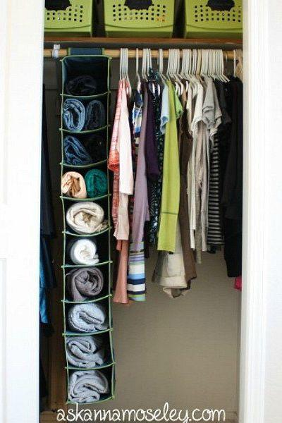 6 Shoe Organizer for Your Sweaters and Jeans via Simphome