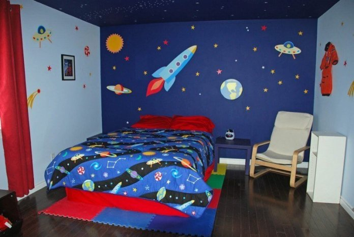 9 A Space Themed idea for Small Bedroom via Simphome