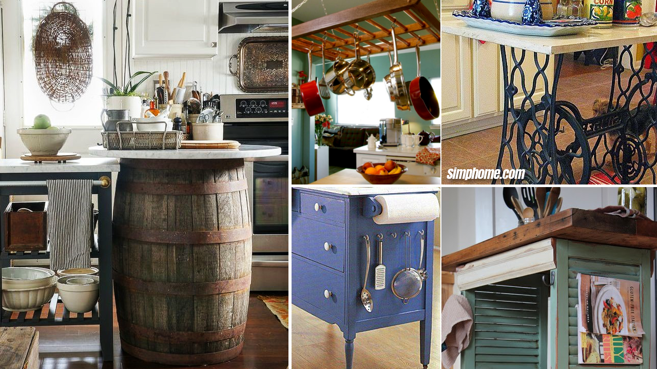10 Furniture Upcycling Ideas for a Kitchen Space - Simphome