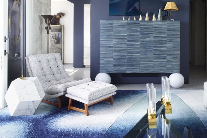5. Minimalist Blue and Gray via Simphome